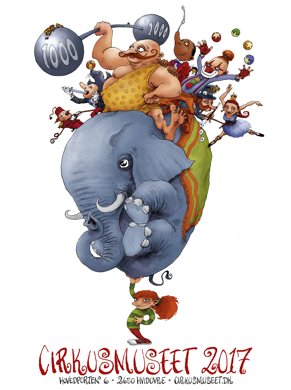 Cirkusmuseet årsplakat 2017